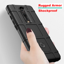 For Xiaomi mi 9t pro Case Rugged Armor Shockproof Cover Soft Silicon Button Protection