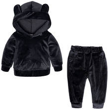 Kids Baby Boys Girls Hooded Clothing Set