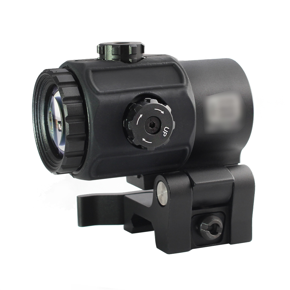Magorui Tactical G43 3x Magnifier Scope Sight with Switch to Side STS QD Mount Fit for 20mm rail Rifle Gun-4