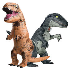 Inflatable Costume Adult Inflatable Velociraptor Costume Halloween Dinosaur T REX Costumes For Men Fancy Dress Cosplay Dinosaur(China)