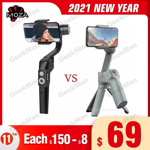 Moza Mini S MINI MX 3 Axis Foldable Pocket Sized Handheld Gimbal Stabilizer for iPhone X Smartphone GoPro VS MINI MI Isteady x