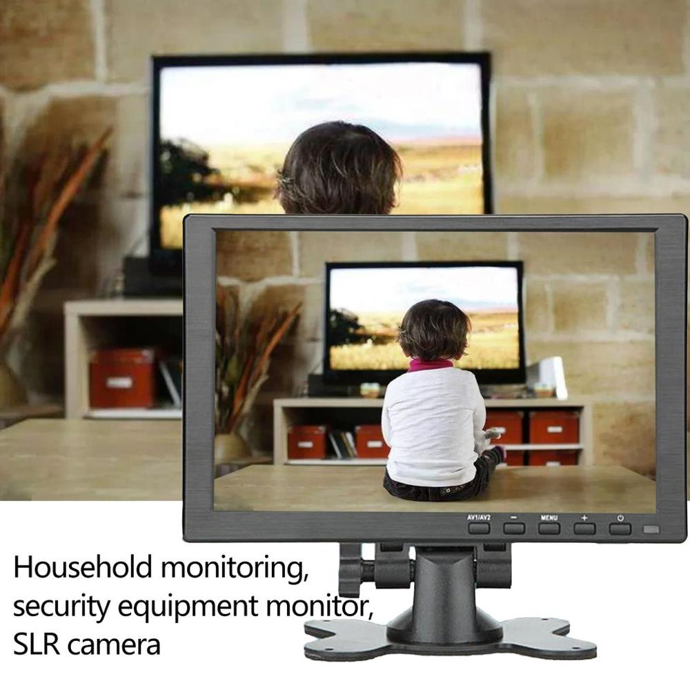 10 inch Portable Monitor HDMI 1920x1080 HD IPS Display Computer LED Monitor with Leather Case for PS4 Pro Xbox Phone