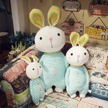 40/55/80CM Cute plush Rabbit toy Doll Shy face Stuffed Soft Animal Pillow Gift Playmate for children girl  - buy with discount