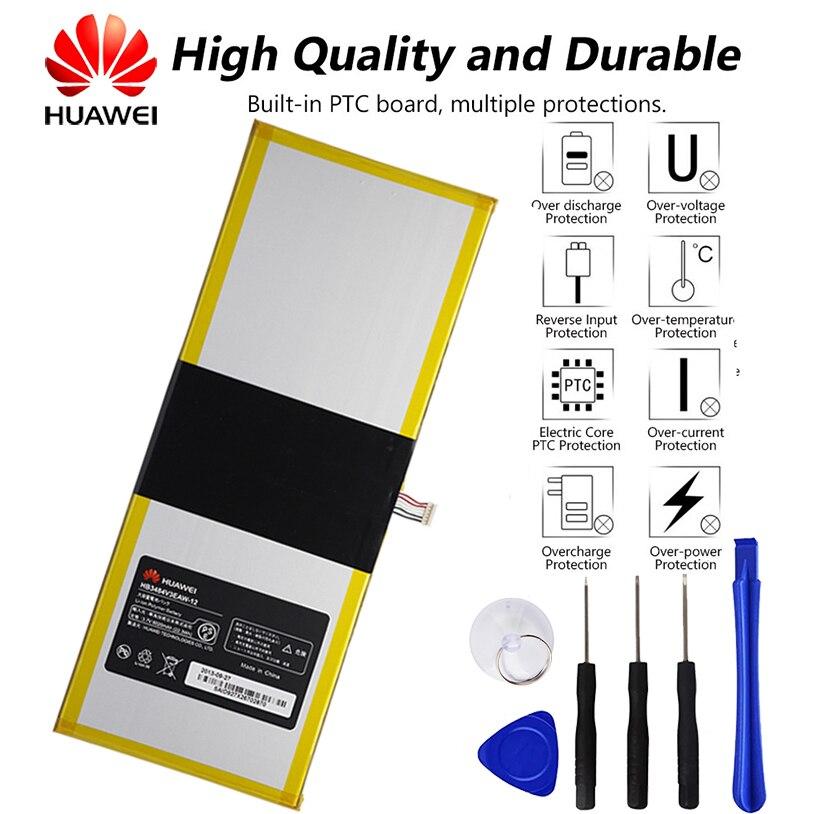 Original huawei mediapad 10 linktablet bateria para huawei S10-201WA hb3x1 6020 mah + ferramenta HB3484V3EAW-12