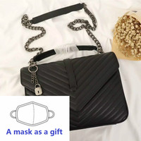 Women genuine Leather handbag luxury Designer GUROVI messenger bag Female Black chain shoulder bag Lady Crossbody Bag