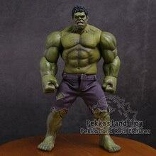 Os vingadores hulk super herói pvc figura de ação collectible modelo brinquedo 25cm