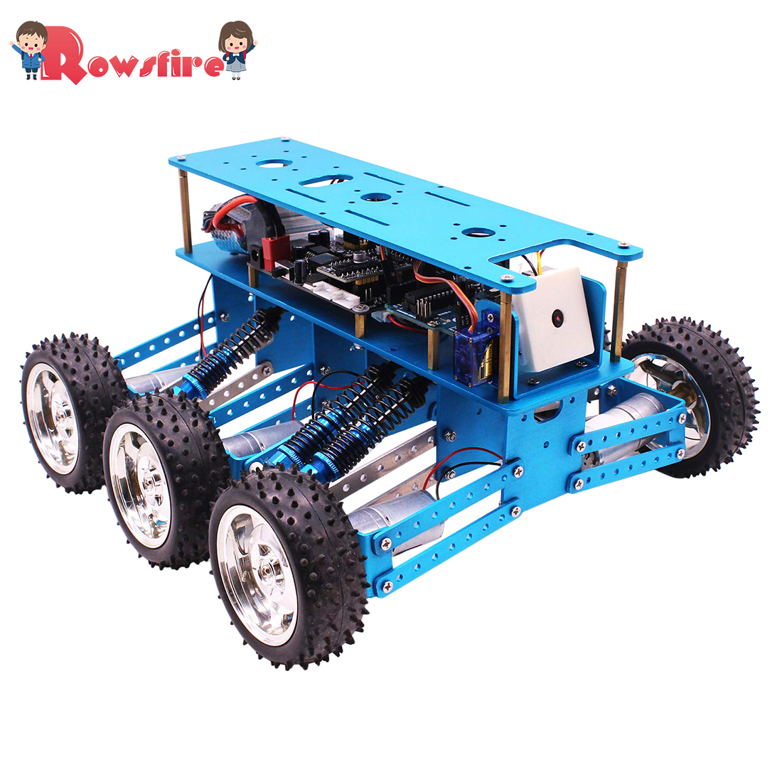 New Hot 6WD Off-Road Robot Car With Camera For Arduino UNO DIY Kit Robot For Programming Intelligent Education And Learning