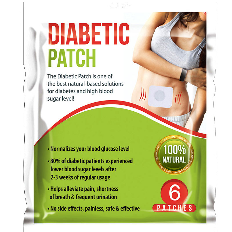 12 Patches=2bag Diabetic Patch Reduce High Blood Sugar Natural Herbs Diabetes Plaster
