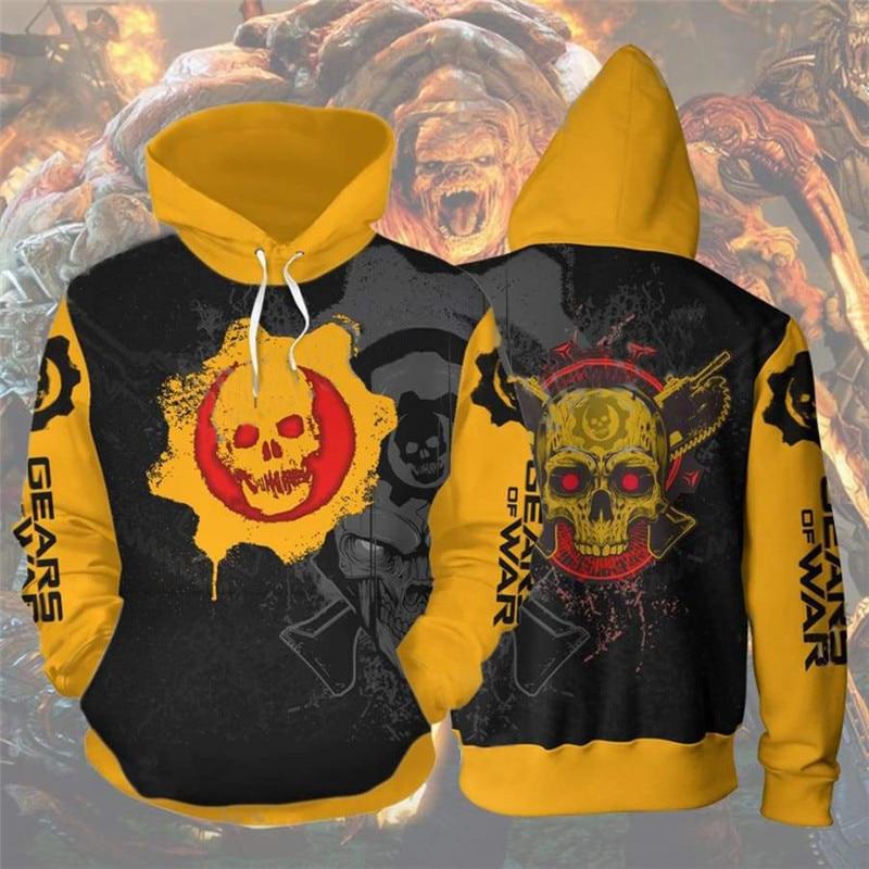 3D Gears of War Costume Man Fashion Hoodies Tops Jumper Sweatshirt Sport Coat