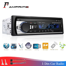 AMPrime Car Radio Bluetooth FM Stero Radio USB SD AUX Audio Player Auto Electronics Subwoofer In-Dash 1 DIN Autoradio ISO 12Pin(China)