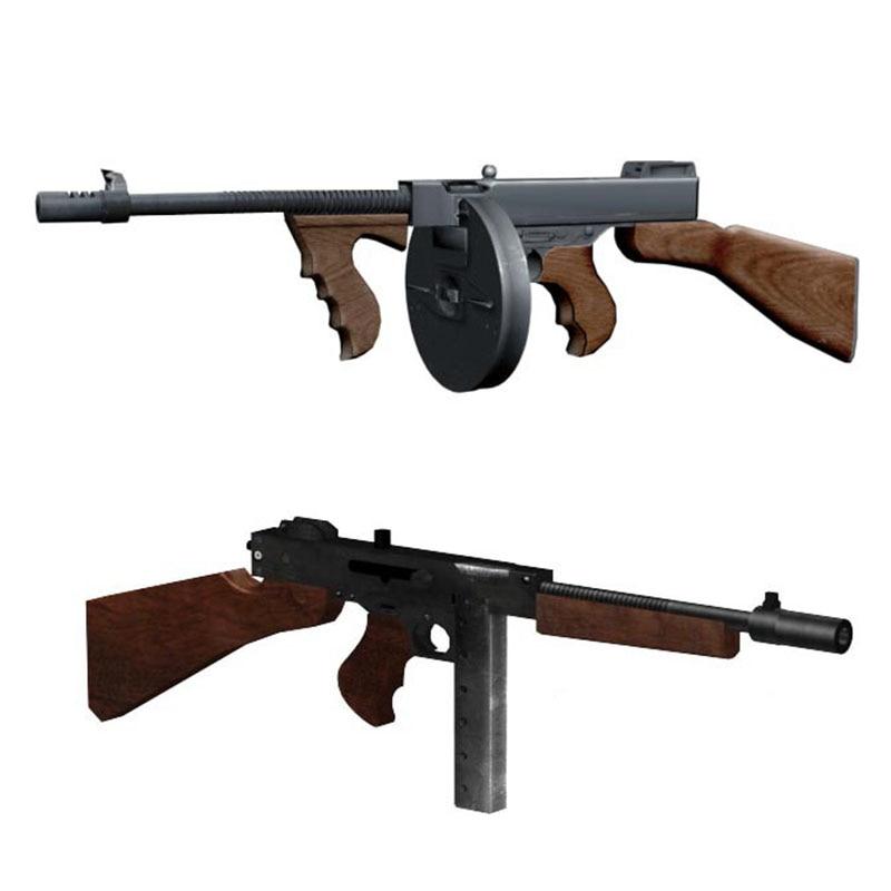 1:1 Thompson M1928 Gun DIY 3D Paper Card Model Building Sets Construction Toys Educational Toys Military Model
