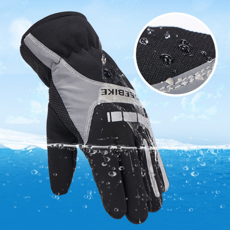 Men Women Winter Snow Gloves Warm Windproof Ski Gloves Touch Screen Fleece Snowboard Gloves Anti-slip Motorcycle Riding Gloves
