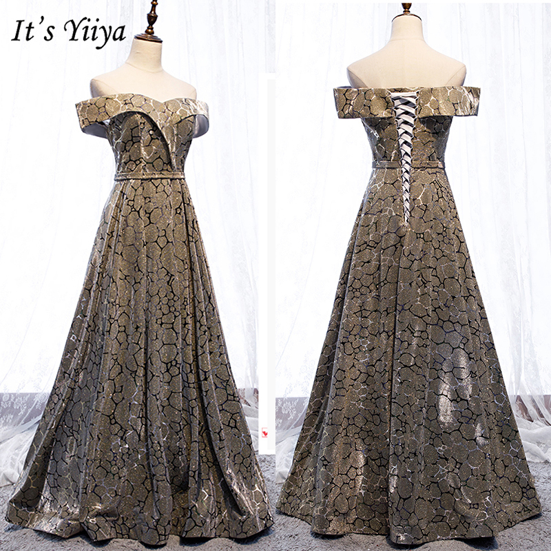 It's Yiiya Evening Dress Summer 2019 Elegant Baot Neck Contrast Color Formal Gown Women Party Long A-Line Dresses Plus Size E999