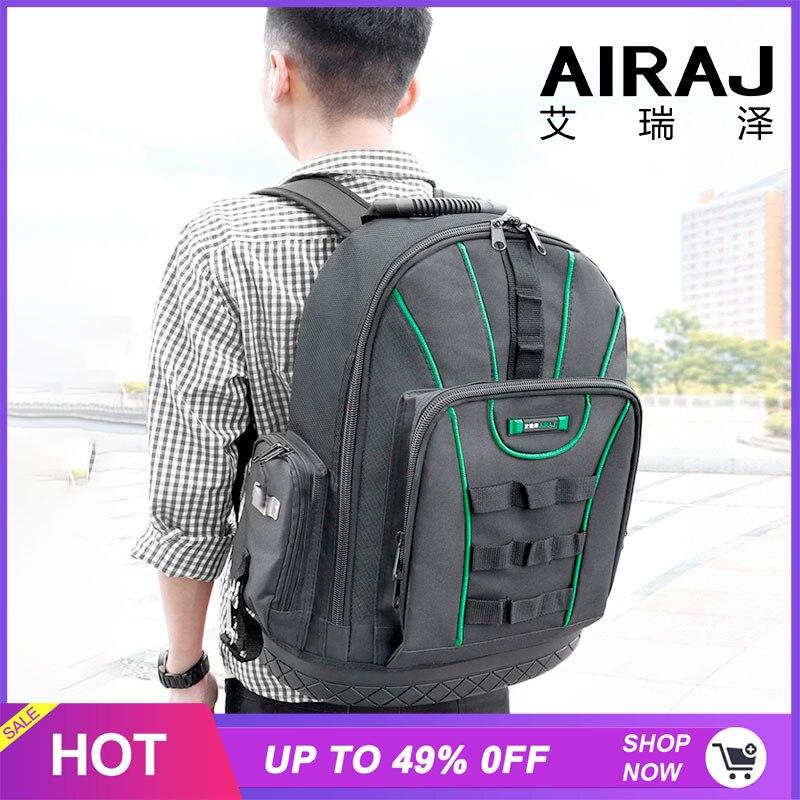 Sac à dos outil multifonction AIRAJ 1680D sac de rangement outil étanche et résistant à l'usure pour sac à outils électricien/menuiserie