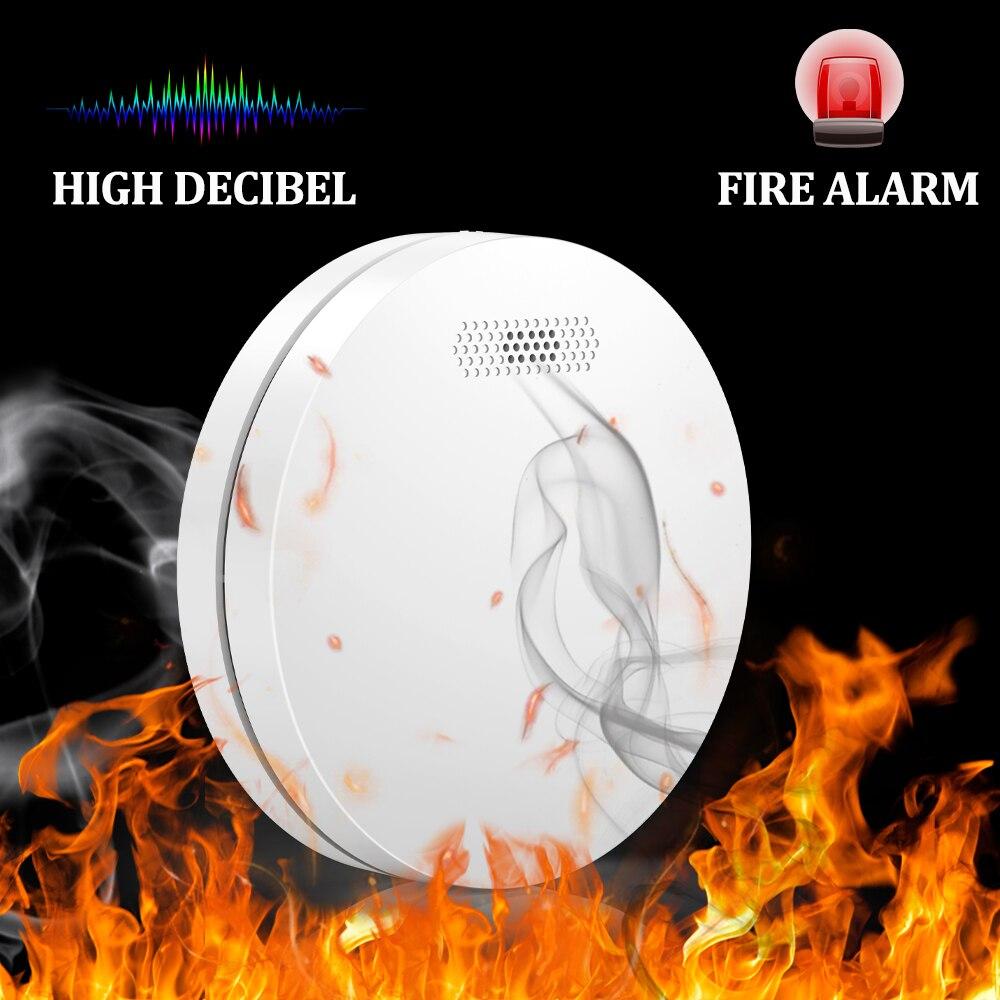 Детектор дыма с Wi-Fi, детектор дыма Tuya Smart Life, управление через приложение, безопасность дома, противопожарная сигнализация, ультратонкий диз...