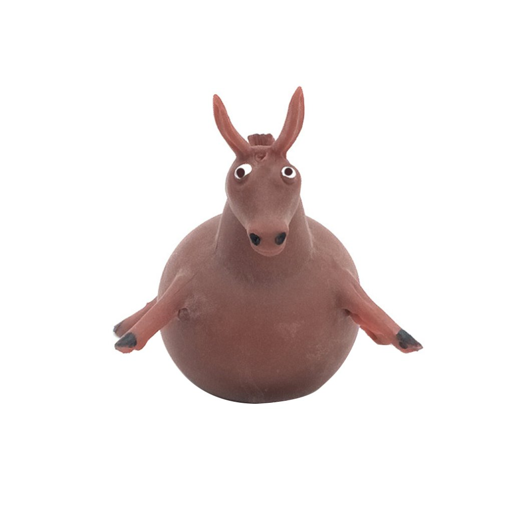 Children's Creative Soft Plastic Toy Tpr Blowing Animal Balloon Tpr Small Animal Patting Ball Soft Plastic Filling Toy