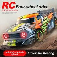 2,4G el coche de RC Racing de 30 KM/H, 4WD eléctrica de alta velocidad del coche de derrape en carretera de Control remoto juguetes para los niños