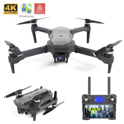 Novo sem Escova Quadcopter com 4 Wifi Esc Cardan Câmera rc Helicóptero Dobrável Drone Dron Crianças Presente Gps Fpv k hd