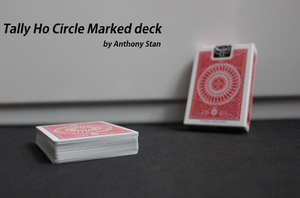 Tally Ho Circle Marked Deck By Anthony Stan Magic Tricks