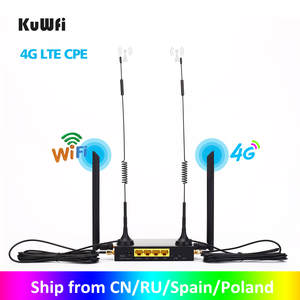 Kuwfi Router Sim-Card-Slot 300mbps 32wifi Strong-Wifi Signal-Support CAT4 4g Cpe