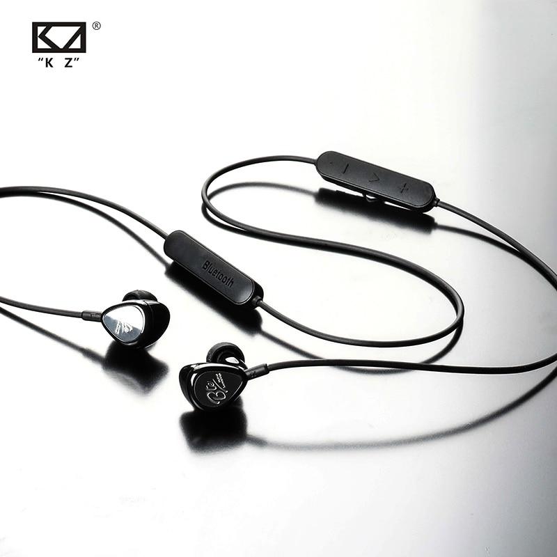 Image 4 - AK KZ BTE Bluetooth BA DD In Ear Earphone Hybrid Headphone HIFI  Bass Noise Cancelling Earbuds With Mic APTX MIC ZS5 ZS6 AS10 ZSTPhone  Earphones