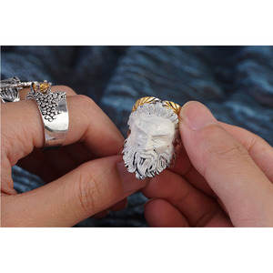 Antique Women Men Ring Wedding
