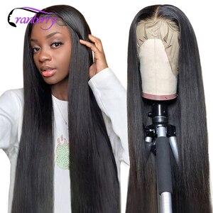 Клюквенные волосы бразильские прямые волосы парик Т-средняя часть кружева парик 100% Remy человеческие волосы парики для черных женщин предвар...