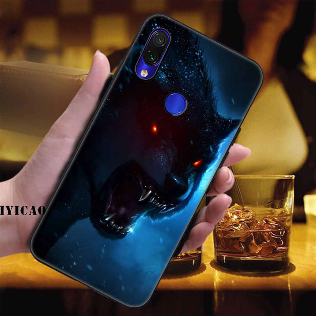 IYICAO בעלי החיים וולף טייגר האריה מלך רך מקרה עבור Xiaomi Redmi הערה 5 6 7 8 פרו 5A ראש 4 4X טלפון מקרה