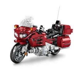 701944 1205 шт. технический мотоциклы строительные блоки в собранном виде Наборы кубиков модель создатель подарки для детей мальчиков и друзей
