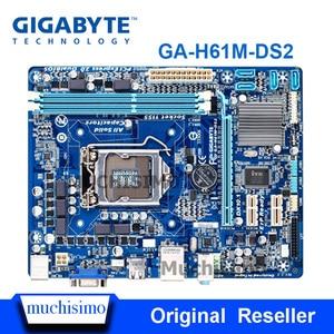 GIGABYTE GA-H61M-DS2 Desktop Motherboard H61 Socket LGA 1155 i3 i5 i7 DDR3 16G uATX UEFI BIOS Original H61M-DS2 Refurbished