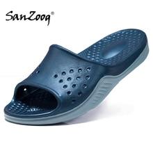 Luz exterior dos homens chinelos de borracha praia slates sapatos de verão slide slipper casa piscina mais tamanho grande 51s