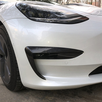 Dry Carbon Fiber Exterior Decoration Headlight Protection Cover for Tesla Model 3 2018 2019 2pcs Stylish Car Decals Accessories