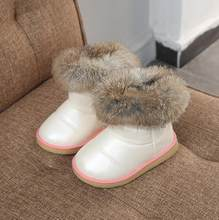 winter child snow boots female male martin boots fashion genuine leather boots baby cotton-padded sport shoes(China)
