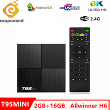 6K T95 Mini Android 9.0 smart tv Box Allwinner H6 wsparcie 2.4GHz WiFi 2GB 16 GB, zestaw quad core Top Box PK TX6 odtwarzacz multimedialny X96mini(China)