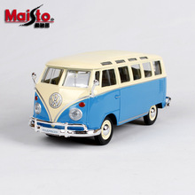 Maisto 1:24 Volkswagen Bus Samba Hot Car Alloy  car model die-casting model car simulation car decoration collection gift toy maisto 1 24 nissan gtr alloy car model die casting model car simulation car decoration collection gift toy