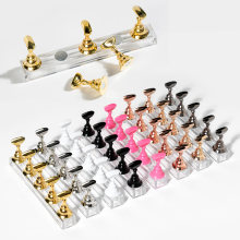Support à ongles magnétique, 1 ensemble, présentoir de pratique, étagère de présentation en cristal acrylique, outil de Nail Art, 8 couleurs, présentoir de vernis à ongles