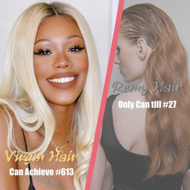 Ali Queen-extensiones de pelo brasileño sin procesar, cabello humano liso de Color Natural de 8  2