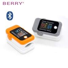 BERRY bluetooth пальцевой Пульсоксиметр оксиметр de Dedo пальцевой Пульсоксиметр кислорода в крови Saturometro SPO2 PR