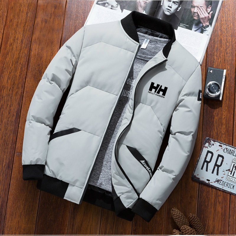Jackets Parka Men Helly Hansen 2019 New Autumn Winter Warm Outwear Brand Slim Mens Coats Casual HH Printed Jackets M-3XL