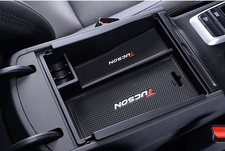 Car Central Console Armrest Storage Box Tray For Hyundai Tucson 2015 2016 2017 Glove Phone Holder Container Tray