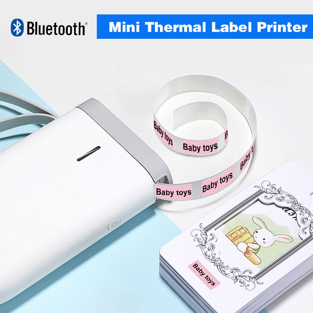 D11 Wireless label printer Portable Pocket Label Printer Portable BT Thermal Label Printer Fast Printing Home Use Office Printer image
