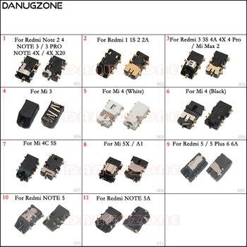 цена на Audio Headphone Jack Earphone Socket Connetor For Xiaomi Redmi NOTE 3 Pro 1 2 4 3S 4A 4X X20 / Redmi 6 6A/ Mi 3 4 4C 5S 5X MAX 2