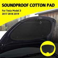 Przednia osłona silnika mata redukcyjna hałas dźwiękochłonny wacik kosmetyczny do modelu Tesla 3 tanie tanio CN (pochodzenie) Kaptur Izolacja Pad Gumy Piankowej