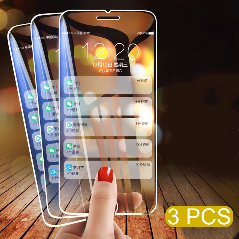 1-3Pcs Full <font><b>Cover</b></font> Glass on the For <font><b>iPhone</b></font> 11 Pro X XS Max XR Tempered Glass Screen Protector For <font><b>iPhone</b></font> 7 8 6 6s Plus 5 5S SE image