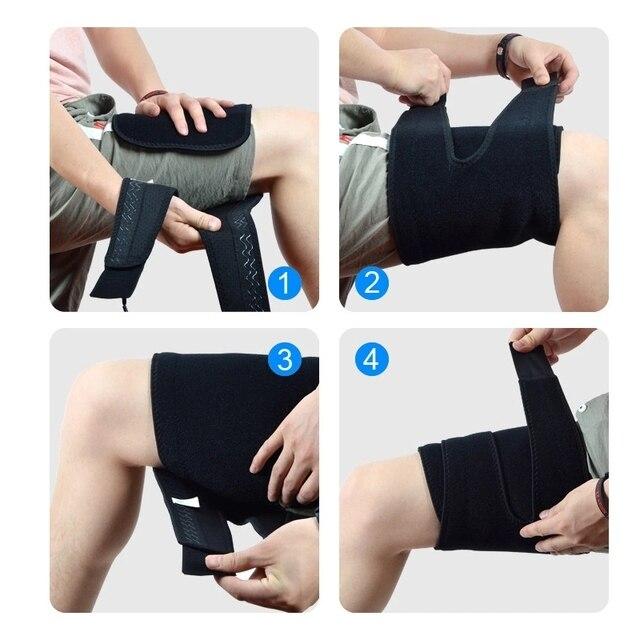 1PC Men Women Leg Shaper Sauna Sweat Thigh Adjustable Leggings Weight Loss Slimming Wraps Legs Thermo Neoprene Compress Belt 4