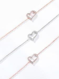 Anklets Bracelet Link-Chain Foot-Accessories Beach-Jewelry Heart-Figure Crystal Women