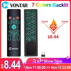 Image 1 - VONTAR T6 Plus Backlit 2.4Ghz chuột Bàn Phím Không Dây mini & Bàn di chuột Điều Khiển từ xa dành cho Android TV Box Mini máy Chiếu cho PC
