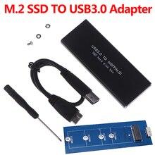 USB-C M.2 NGFF корпус жесткого диска B Ключ SATA считыватель SSD к USB 3,0 адаптер