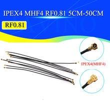 5 pces wifi trança uhf4 ipx4 ipex4 para uhf4 ipx4 ipex4 cabo de trança rg0.81 para roteador 3g 4g modem