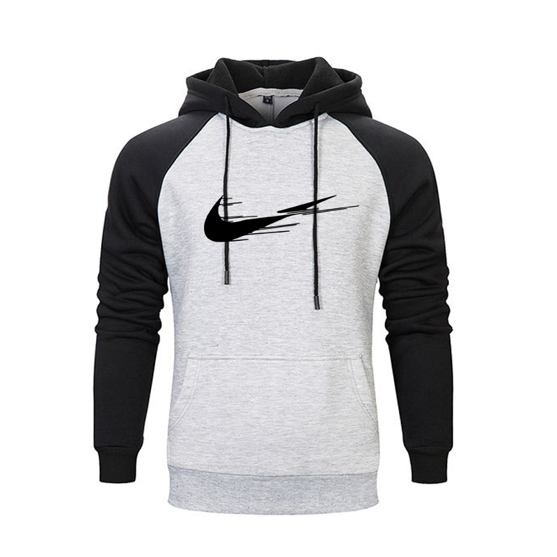 The screw thread cuff Hoodies Long Sleeve Hooded Hoodie Sweatshirt Men Fashion autumn winter Hip Hop hoodie pullover Hoody